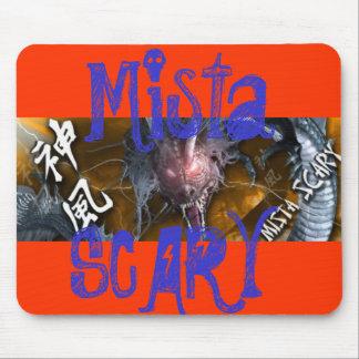 Mista SCARY Orange Dragon Blue Logo Mousepad