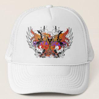Mista SCARY Orange Phoenix Winged Skull Hat