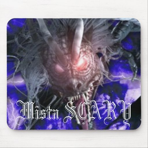 Mista SCARY Purple Lightning Dragon Mousepad