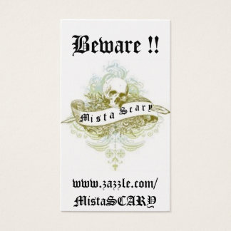 Mista SCARY Skull Banner Profile Business Card