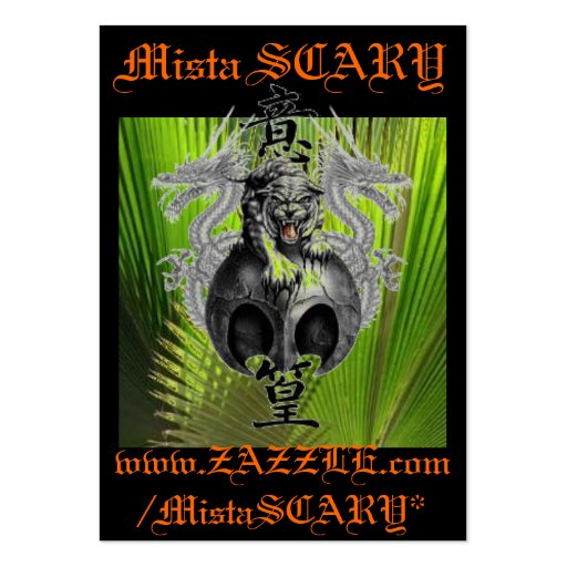 Mista SCARY Tiger & Dragons Profile Business Card