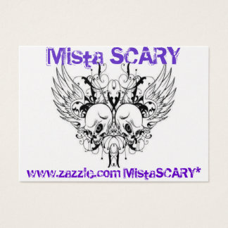 Mista SCARY Winged Skull 2-sided Profile Card