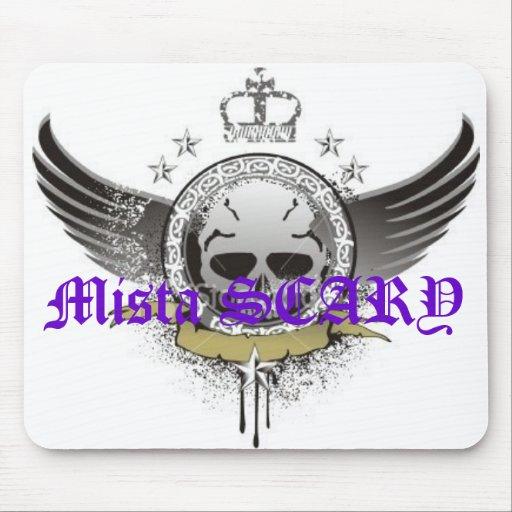 Mista SCARY Winged Skull Star King Mousepad