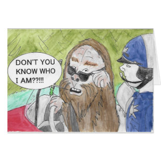 Mistaken Bigfoot Birthday Card