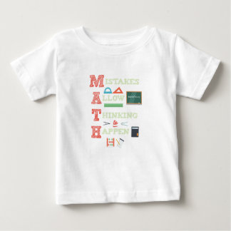 Mistakes Allow Thinking To Happen Math Teacher Baby T-Shirt