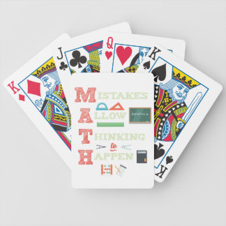 Mistakes Allow Thinking To Happen Math Teacher Bicycle Playing Cards