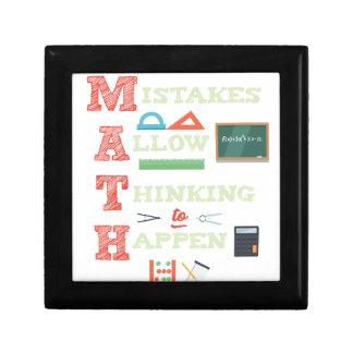 Mistakes Allow Thinking To Happen Math Teacher Gift Box