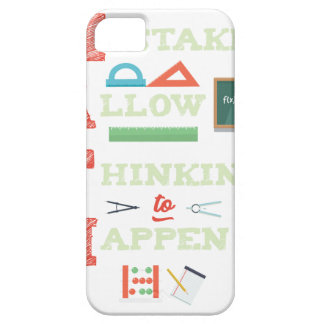 Mistakes Allow Thinking To Happen Math Teacher iPhone 5 Cover