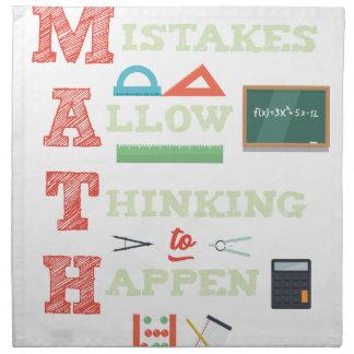 Mistakes Allow Thinking To Happen Math Teacher Napkin