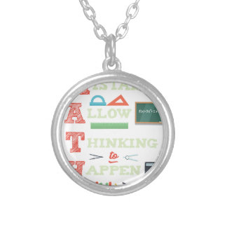 Mistakes Allow Thinking To Happen Math Teacher Silver Plated Necklace