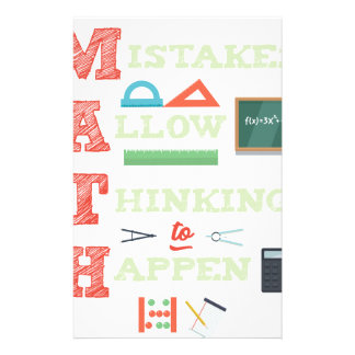 Mistakes Allow Thinking To Happen Math Teacher Stationery