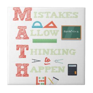 Mistakes Allow Thinking To Happen Math Teacher Tile