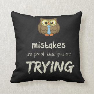 Mistakes Cushion