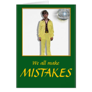 MISTAKES GREETING CARD