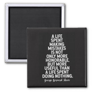 Mistakes - Inspirational Quote Magnet