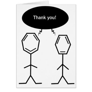 mister benzene thank you! card