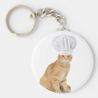 Mister Cat Chef To You Basic Round Button Key Ring