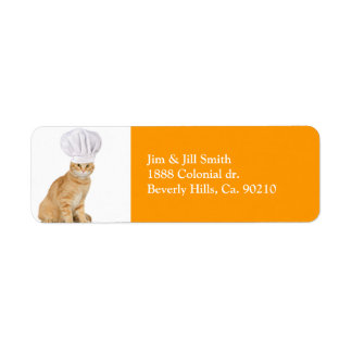 Mister Cat Chef To You Return Address Label