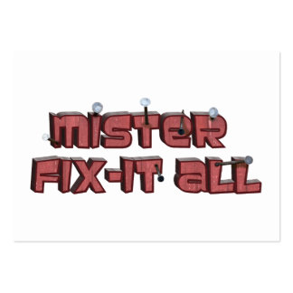 Mister Fix-It All Wooden Text Design Pack Of Chubby Business Cards