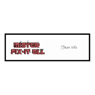 Mister Fix-It All Wooden Text Design Pack Of Skinny Business Cards