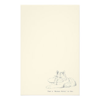 Mister Kitty Cat Stationery