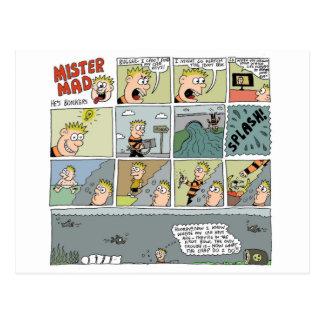 Mister Mad Drowns Himself by Sam Backhouse Postcard