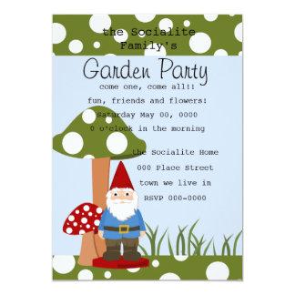 Mister Mushroom Garden Gnome Card