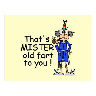Mister Old Fart Birthday Humor Postcard