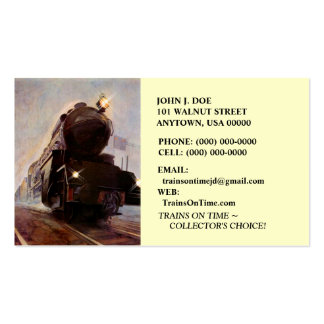 MISTING EVENING TRAIN ON RAILROAD ~BUSINESS CARDS!