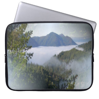 Misting fog over the mountains... laptop sleeve