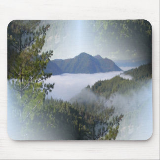 Misting fog over the mountains... mouse pad