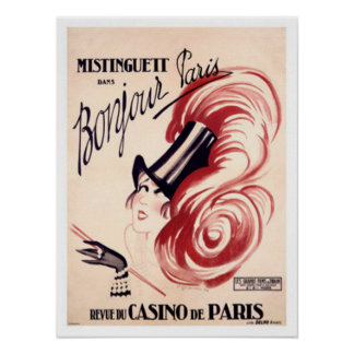 Mistinguett, Bonjour Paris Poster