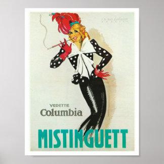 Mistinguett Vedette Columbia Poster