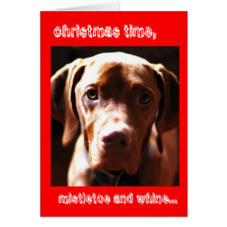 Mistletoe and whine card