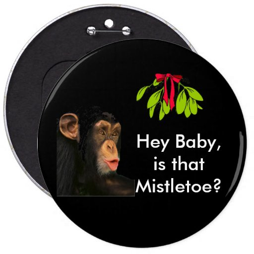 Mistletoe Christmas Button