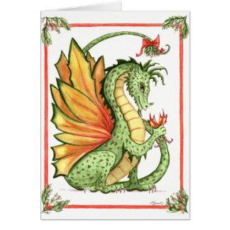 Mistletoe Dragon Card