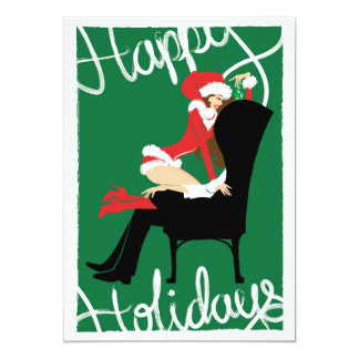 """Mistletoe Invitation 5"""" X 7"""" Invitation Card"""