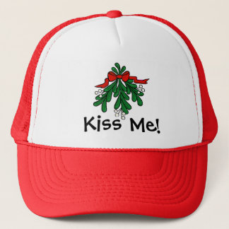 "Mistletoe ""Kiss Me""  Christmas Cap"
