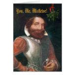MISTLETOE KNIGHT Christmas Card