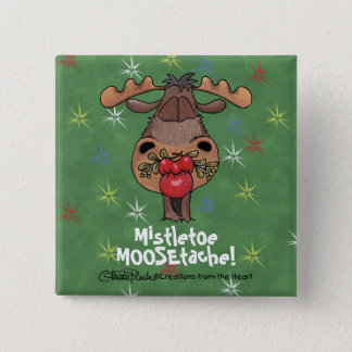 Mistletoe MOOSEtache 15 Cm Square Badge