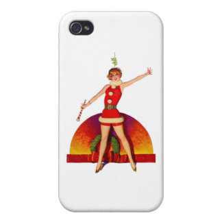 Mistletoe Pinup Girl Cover For iPhone 4