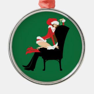 Mistletoe Premium Round Ornament