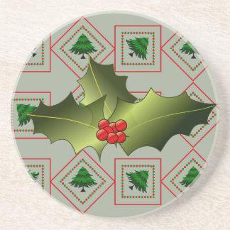 Mistletoe Sandstone Coaster