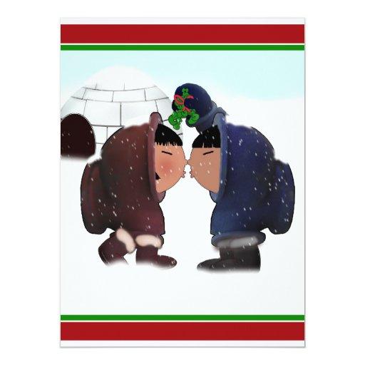 Mistletoe Time - Mistletoe Kiss 17 Cm X 22 Cm Invitation Card