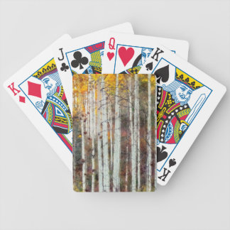 Misty Birch Forest Bicycle Playing Cards