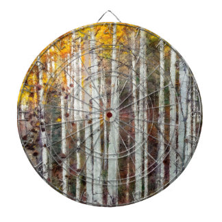 Misty Birch Forest Dartboard