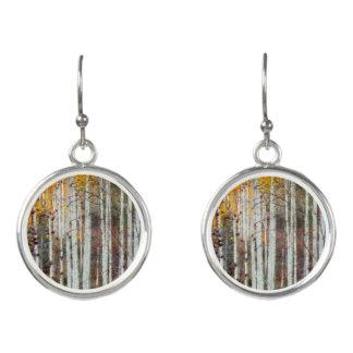 Misty Birch Forest Earrings