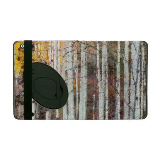 Misty Birch Forest iPad Folio Case