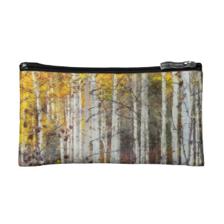 Misty Birch Forest Makeup Bag