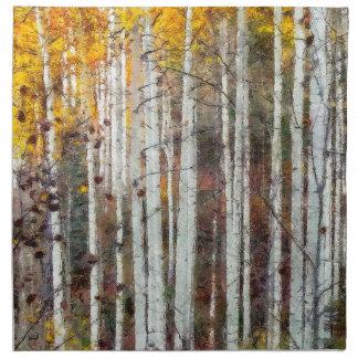 Misty Birch Forest Napkin